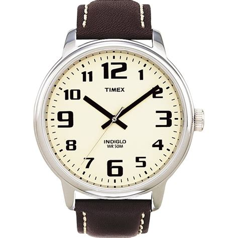 s indiglo easyreader brown t28201 timex