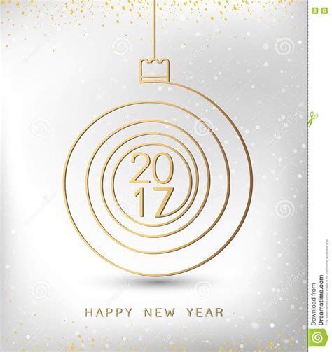 new year gold vector merry happy new year gold 2017 spiral shape