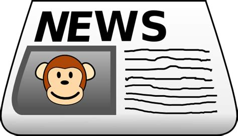 newspaper clipart monkey news clip at clker vector clip