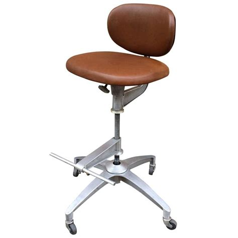 adjustable rolling drafting chair shaw walker adjustable aluminum and leather drafting stool