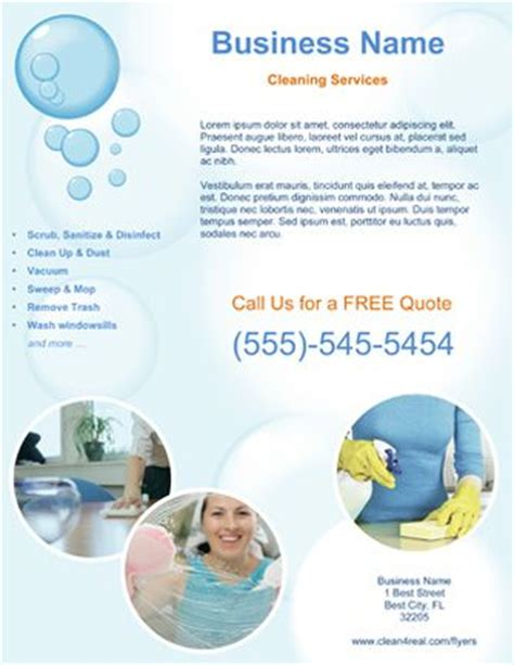 templates for cleaning service flyers customized cleaning service flyer templates cleaning