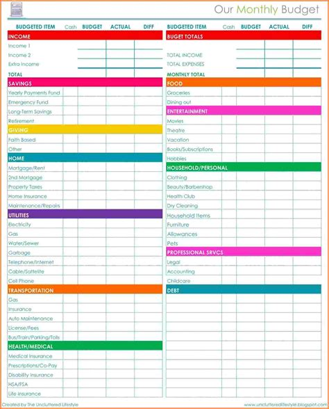 excel spreadsheet for bills template 5 bills budget spreadsheet excel spreadsheets