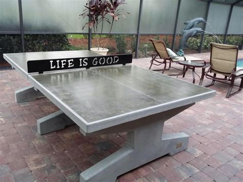 concrete ping pong table concrete ping pong tables