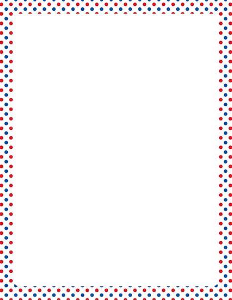 printable polka dot border paper printable patriotic border with red white and blue polka