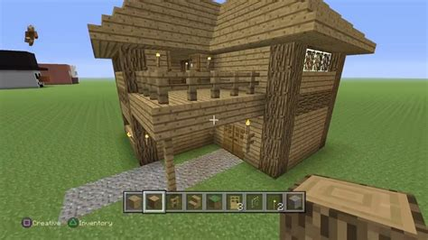 how to build a 2 story house minecraft tutorial how to build a two story oak house