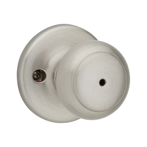 Quickset Door Knobs by Shop Kwikset Cove Satin Nickel Turn Lock Residential