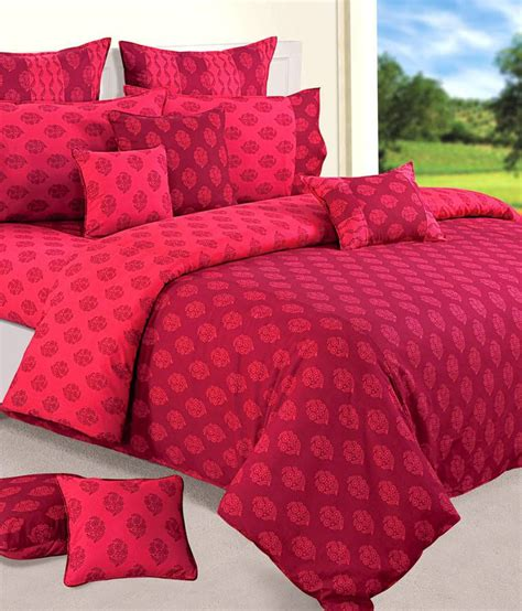 magenta bedding swayam shades of paradise magenta compleat bedding set