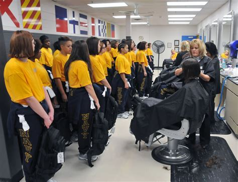 navy rtc boot c haircut men file u s navy recruits receive their first haircuts