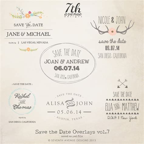 save the date cards templates for weddings overlays engagement