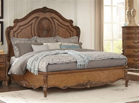 pecan furniture bedroom moorewood park bedroom 1704 in pecan finish by homelegance