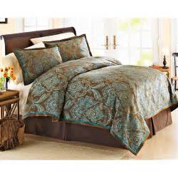 better homes and garden teal jacquard comforter cover set