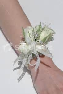 wrist corsage vintage look ivory bud wedding wrist corsage w lace ribbon
