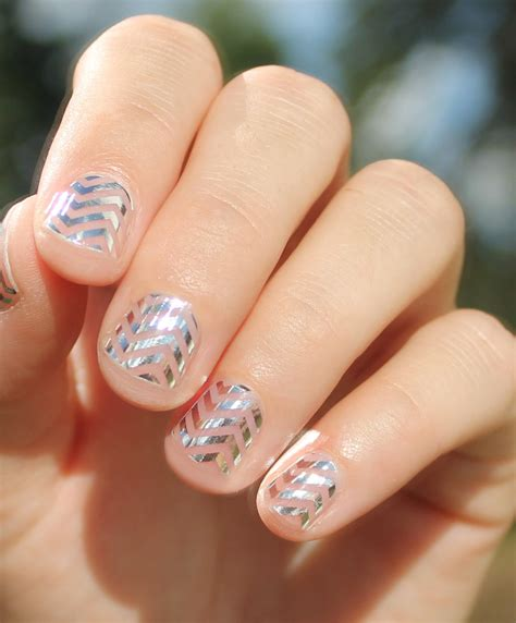 Nail Wraps by Silver Chevron Transparent Nail Wraps By Sogloss On Etsy
