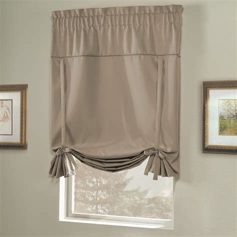 tie up blackout curtains united curtain co blackstone blackout tie up shade