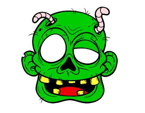 imagenes de halloween zombies dibujo de cara de zombie con gusanos pintado por ssabatini