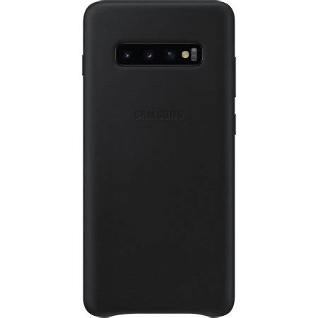 Samsung Galaxy S10 Leather by Official Samsung Galaxy S10 Plus Leather Cover Black