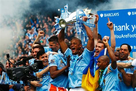 epl news man city manchester city celebrate epl title win abc news