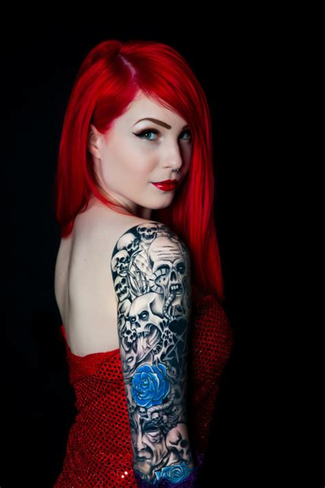tattoo girl beautiful tattoos beautiful blue girl image 489031 on favim com