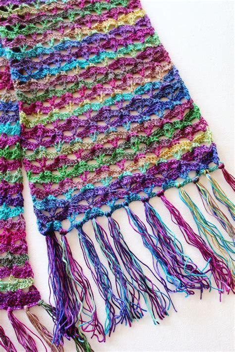 crochet free free crochet pattern autumn sunset scarf pattern