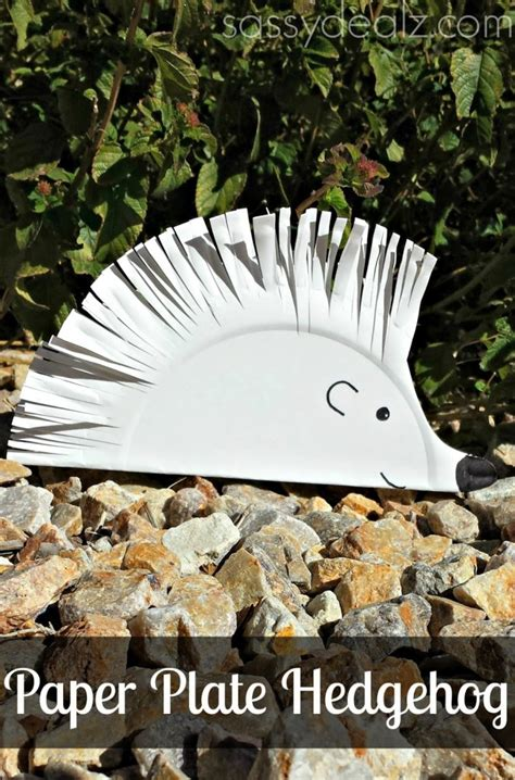 Hedgehog Paper Plate Craft - 100 paper plate crafts for tgif this is