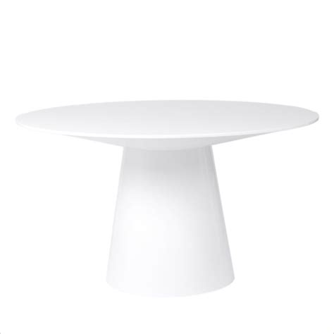 White Pedestal Dining Table by Eurostyle Wesley Pedestal Dining Table In White