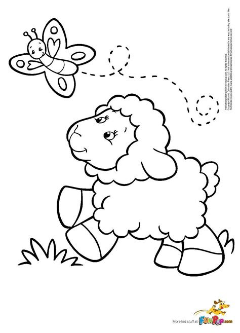Sheep Coloring Pages by Butterfly Sheep Coloring Page Colorbook