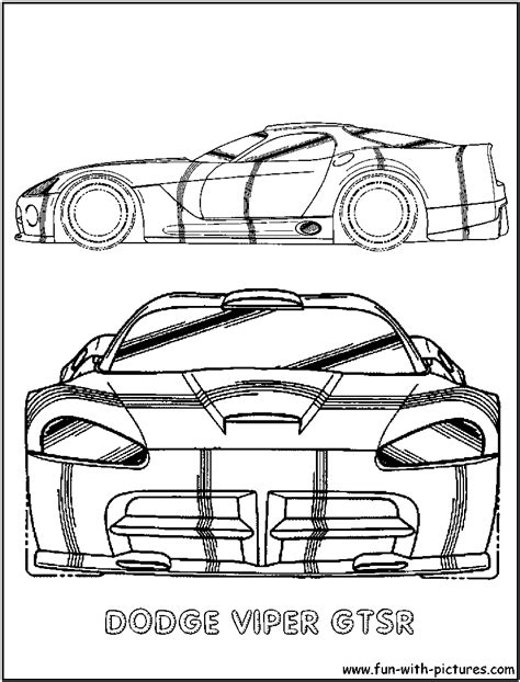 Dodge Viper Gtsr Coloring Page Dodge Viper Coloring Pages