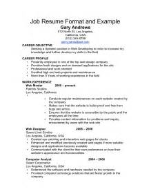 Samples Resumes For Jobs examples of a job resume resume examples for job 5194d8c21
