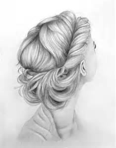 pencil drawing of hair styles of lovely hair up do by kinannti on deviantart