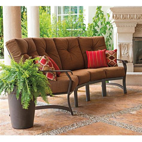 curved patio sectional 4 piece curved sectional set from villa cushion by