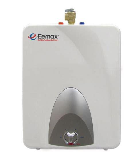 small electric water heater eemax mini tank water heaters small compact electric
