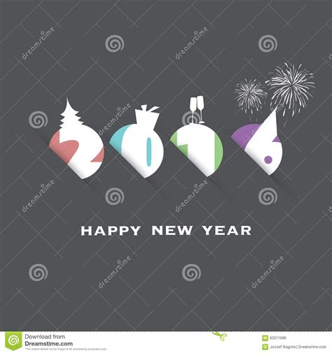 new year card design template simple new year card cover or background design template