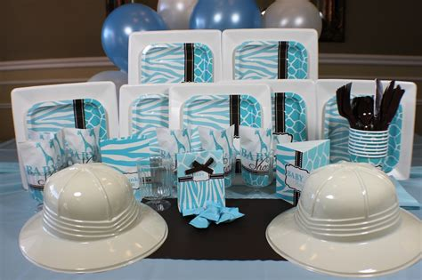 Blue Safari Baby Shower Decorations by Blue Safari Baby Shower Decorations And Babies