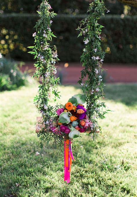 flower swing decorations romantic garden party