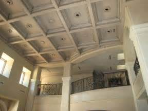decorative ceilings provencal plaster walls and wood inlaid ceiling panels mediterranean living room austin