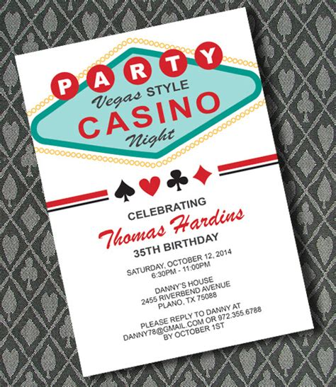 free vegas templates vegas casino invitation template print