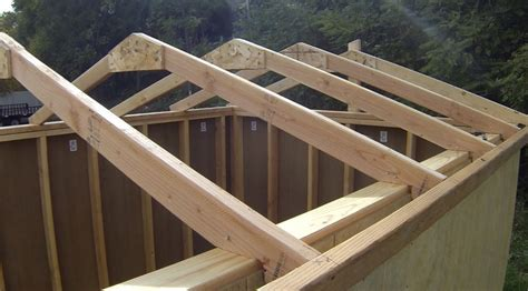 build shed roof rafters shed plans