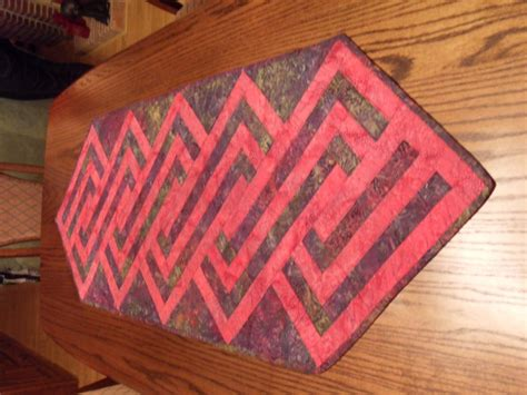 zig zag pattern table l 187 red zig zag pattern table runnerhand made quilting
