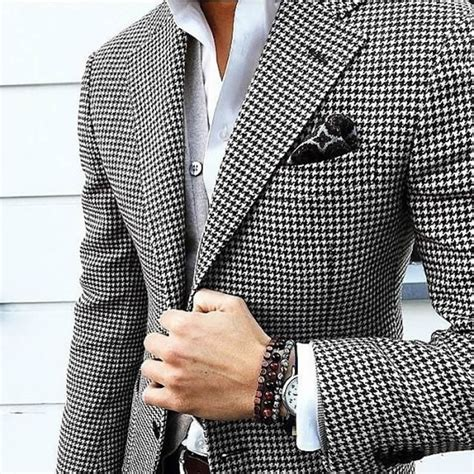 black and white pattern jacket popular mens houndstooth suit buy cheap mens houndstooth
