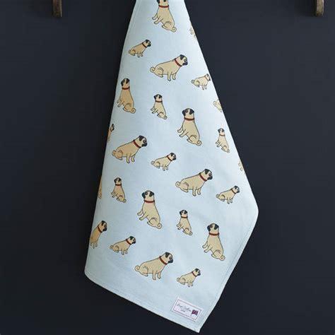 pug towel pug tea towel by sweet william designs notonthehighstreet