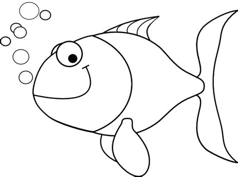 Fish Outline Clip Art At Clker Com Vector Clip Art Fish Outline Coloring Page