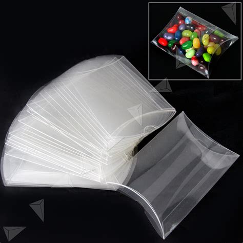 plastic pillow boxes 25pcs pillow style plastic pvc box chocolate sweet