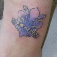 fleur de lis black ink tattooimages biz fleur de lis black ink wrist tattooimages biz