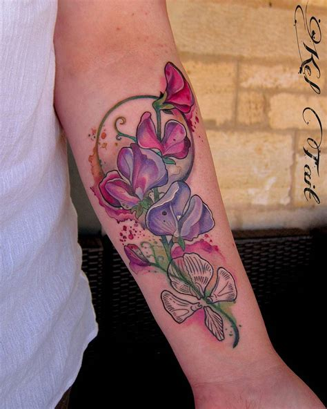 sweet pea flower tattoo designs sweet pea idea pinteres