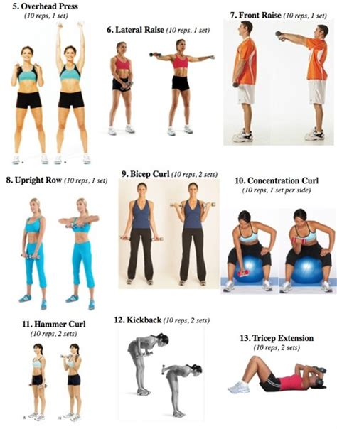 light weight workout routines workout routine dumbbells
