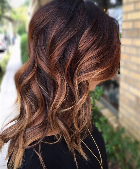fall highlights for brown hair best 25 fall balayage ideas only on pinterest balayage