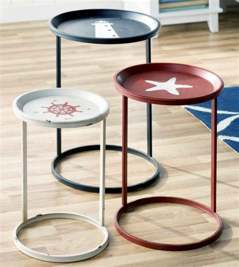 nautical themed end tables coastal and nautical accent tables nesting tables http