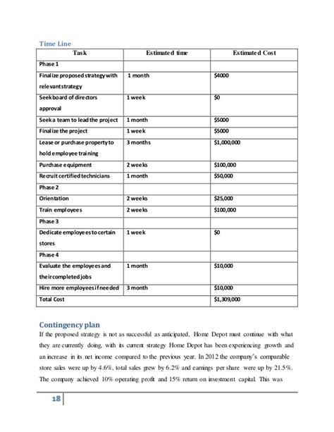 home depot strategic report