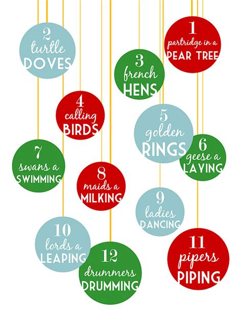Sugartotdesigns 12 Days Of Christmas Free Printable 12 Days Of Printable Templates