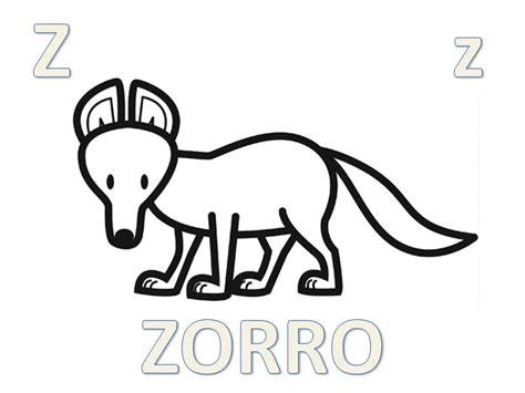 imagenes de animales con z abecedario animal para colorear